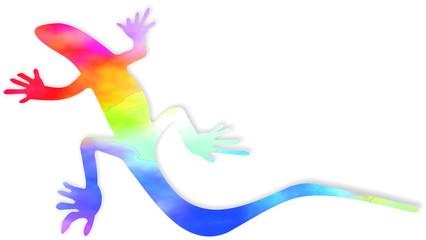 lagarto arco iris