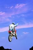 biker jump scene poster