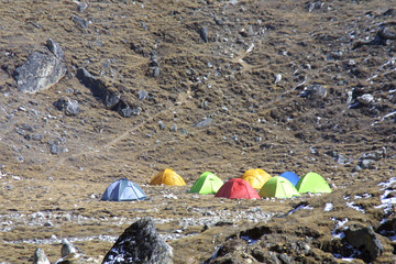 expedition in nepal - base camp
