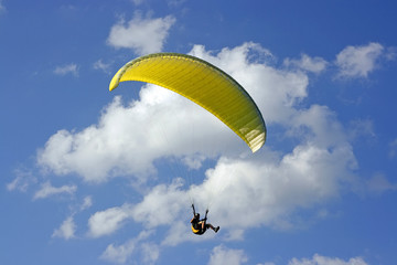 yellow paraglide