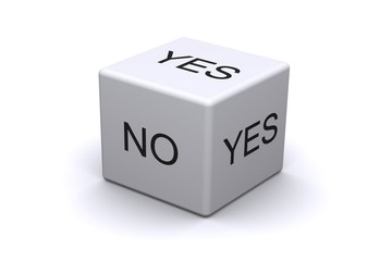 dice with yes and no