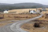 country lane, nova scotia, canada poster