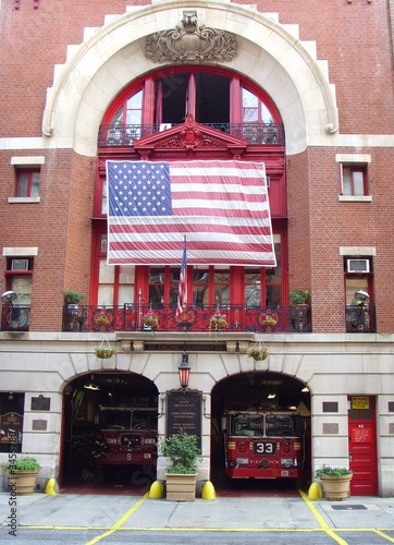 New York City Fire Hall and Trucks...