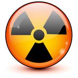 Fototapety icone radioactif