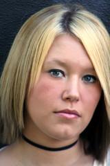 serious blond closeup