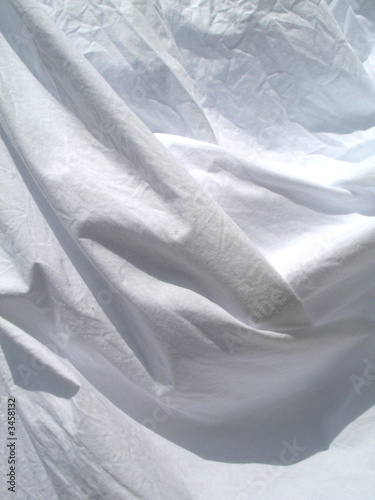 folds in a white sheet