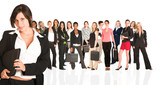 Business group of isolated woman only poster
