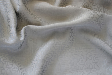 vintage chinese gray silk fabric