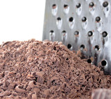 grated chocolate and grater
