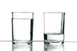 vasos con agua