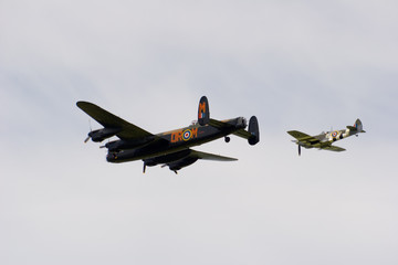 lancaster and spitfire