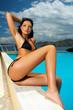black bikini girl