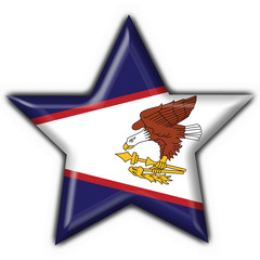 bottone stella american samoa star button flag