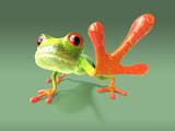 Fototapete Grün - Makro - Reptilien / Amphibien