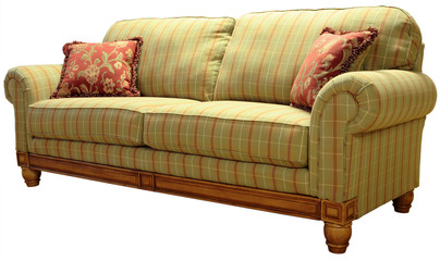country plaid sofa