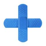 2 blue bandages making blue cross poster