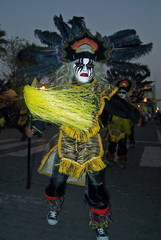 dancer of peruvian carnival