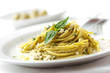 roleta: pasta with pesto sauce