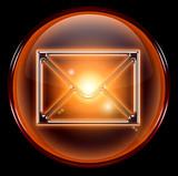 postal envelope icon. poster