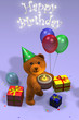 birthday card teady bear