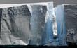 huge icebergs with gap