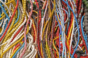 colorful strings of beads