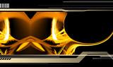 golden abstract rendering poster