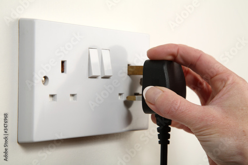 Leinwanddruck Bild plugging in