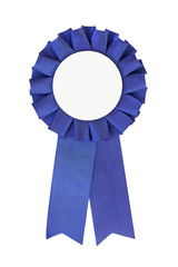 blue ribbon close-up