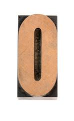 wood letter o