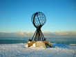 Leinwanddruck Bild - north cape monument