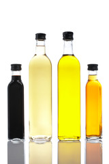 bottles of olive oil and vinegar
