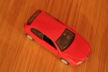 red italian hatchback