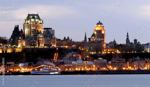 Foto op Canvas Canada quebec city by night