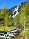 Fototapety waterfall tvinde in norway