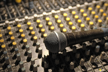 soundboard and microphone