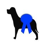 dog show blue award ribbon poster