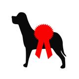 dog show red award ribbon poster