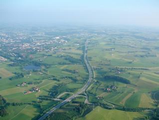 oberallgäu - luftaufnahme - a7- autobahn
