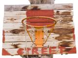 old basketball basket poster