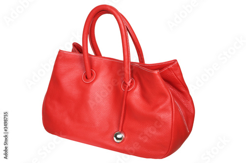 female red bag.