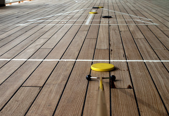 shuffleboard playing on a cruise ship 3