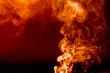 flaming smoke