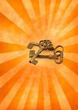 keys on light burst poster