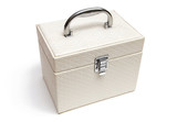 white casket with handle poster