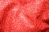 rumpled red leather poster