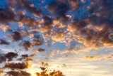 contrast sunset clouds poster