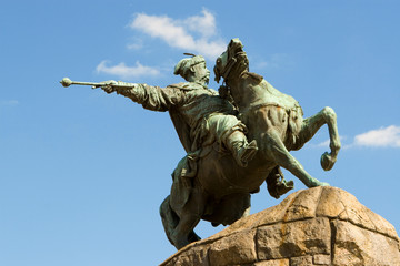 bogdan khmelnitsky monument, kiev, ukraine