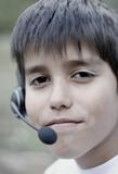 boy with headset poster