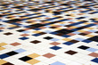 abstract of colorful tiles